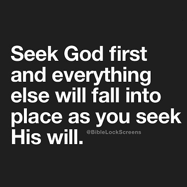 Seek God's Will. what